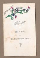 MENU Diner De 1936.. Hôtel De L'Ouest - Menus