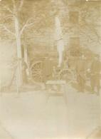 LE PROFESSEUR WELSEN 10/1903 ACROBATE EQUILIBRISTE DEMONSTRATION EN CASERNE PHOTO ORIGINALE 11 X 8 CM - Sporten