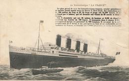 LE TRANSATLANTIQUE LA FRANCE - Sonstige