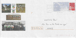 2001 Championnat D'Europe Junior De Rink-Hockey à Quévert: Entier-postal, PAP - Hockey (Field)