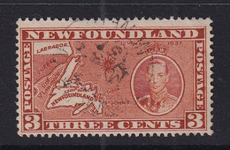 Newfoundland: 1937   Coronation Issue  SG258d   3c  [Perf: 13][Die I]   Used - 1908-1947