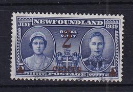 Newfoundland: 1939   Surcharge   SG273   2c On 5c    Used - 1908-1947