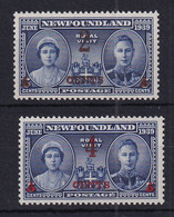 Newfoundland: 1939   Surcharges    MH - 1908-1947