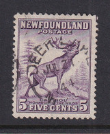 Newfoundland: 1941/44   Pictorial  SG280a   5c   [Perf: 12½]   Used - 1908-1947