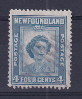 Newfoundland: 1947   Princess Elizabeth's 21st Birthday  SG293   4c   Used - 1908-1947