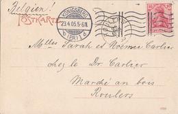 DR AK EF Minr.71 Flaggenstempel Königsberg 23.4.05 Gel. Nach Belgien - Briefe U. Dokumente