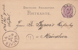 DR Ganzsache K2 Orb 7.2.78 Gel. Nach München - Briefe U. Dokumente
