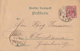 DR Karte EF Minr.47 K1 Gross-Lichterfelde 5.4.93 Gel. Nach Norwegen - Briefe U. Dokumente