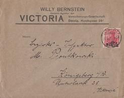 Danzig Brief EF Minr.6 Danzig 26.4.20 Gel. Nach Königsberg - Danzig