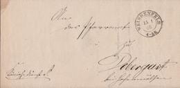 Preussen Brief K2 Weissenfels 15.1.68 Gel. Nach Dobergast Bei Hohenmölsen - Preussen