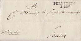 Preussen Brief L2 Perleberg 5 NOV. Gel. Nach Berlin - Preussen