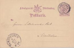 Württemberg Ganzsache  K3 Kornthal 5.10.83 Gel. Nach Blaubeuren - Wuerttemberg