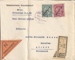 Autriche Lettre Recommandée Contre Remboursement Wien 1919 - Covers & Documents