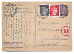 Entier 1943- Prisonnier En Allemagne Pour Lille - Guerres