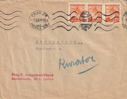 Bohême Et Moravie Lettre Prag Pour Strasbourg 1941 - Briefe U. Dokumente
