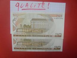 AUTRICHE 20 SCHILLING 1986 (2 NUMEROS SE SUIVANTS) Neuf-UNC (B.25/2) - Austria