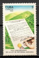 Cuba 1989 / Agrarian Reform MNH Reforma Agraria Agrarreform / Ij21  30-23 - Unused Stamps