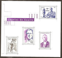 2020 - Nouveau Bloc Feuillet F 5446 Charles DE GAULLE  NEUF** LUXE MNH - Ungebraucht