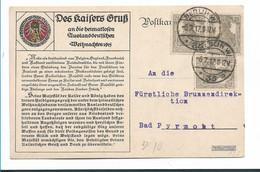 Ger475 / DEUTSCHES REICH - Grußbotschaft Des Kaisers Weihnachten 1915 - Briefe U. Dokumente