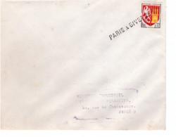FRANCE - Lettre - Griffe Linéaire Paris A Givet - Blason Agen - 1964 - Briefe U. Dokumente