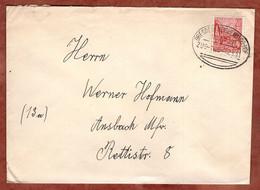 Brief, Berlin Stalinallee, Per Bahnpost Dresden-Reichenbach-Hof, Karl-Marx-Stadt Nach Ansbach 1961 (5408) - Briefe U. Dokumente