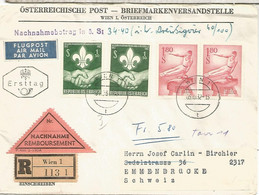 AUSTRIA 1962 WIEN SCOUT REEMBOLSO - Covers & Documents