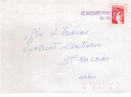 FRANCE - Lettre - Griffe Linéaire Saint Nazaire - Principal - Sabine Gandon 1f60 Rouge - 1978 - Briefe U. Dokumente
