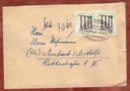 Brief, Leipziger Messe, Per Bahnpost Dresden-Reichenbach-Hof, Karl-Marx-Stadt Nach Ansbach 1961 (5410) - Briefe U. Dokumente