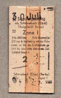 X3] BRD - Pappfahrkarte -- Schönebeck -  Schnellzugzuschlag - Europe