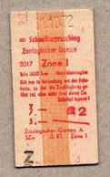 X3] BRD - Pappfahrkarte -- Berlin Zoologischer Garten -  Schnellzugzuschlag - 1972 - Europe