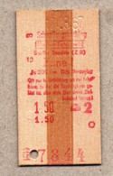 X3] BRD - Pappfahrkarte -- Berlin Stadtb -  Schnellzugzuschlag - 1967 - Europe