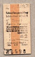 X3] BRD - Pappfahrkarte -- Schönebeck -  Schnellzugzuschlag - 1970 - Europe