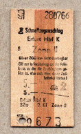 X3] BRD - Pappfahrkarte -- Erfurt -  Schnellzugzuschlag - 1966 - Europe
