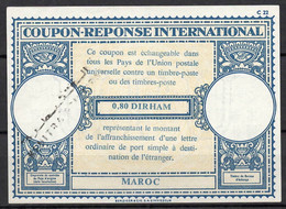 MAROC / MOROCCO Lo17 0,80 DIRHAM InternationalReply Coupon ReponseAntwortscheinIAS IRCo KENITRA - Marokko (1956-...)