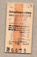 X3] BRD - Pappfahrkarte -- Erfurt -  Schnellzugzuschlag - 1970 - Europe