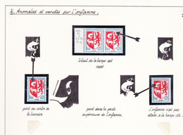 Collection Blason Auch Anomalies Variétés Sur Page Avec Descriptions Non Dentelés Documents Roulettes Case - Ungebraucht