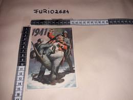 MIL01 ILLUSTRATORE BOCCASILE P.N.F. DOPOLAVORO FORZE ARMATE STAZIONE MILIZIA FERROVIARIA PER P.M. 121/E 23/02/42 - Guerra 1939-45