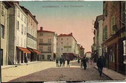 MONTBRISON  Rue Tupinerie Animée Colorisée RV - Montbrison