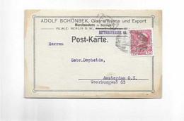 Karte Aus Morchenstern Nach Amsterdam 1912 - Covers & Documents