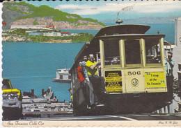 CPSM FAMOUS CABLE CAR ON SAN FRANCISCO HILL - Autres