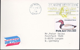 Amerika 1988, Postcard, From Key West To Germany - 1981-00
