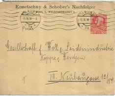 AUSTRIA ENTERO POSTAL WIEN 1910 KONETSCHNY & SCHOEBERS NACHFLOGER - Covers & Documents