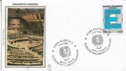 Fdc Filagrano Gold : PARLAMENTO EUROPEO (1994); No  Viaggiata ;AS - F.D.C.