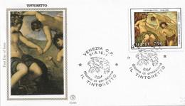 Fdc Filagrano Gold : TINTORETTO (1994); No  Viaggiata ;AS - F.D.C.