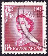 NEW ZEALAND 1954 QEII 8d Carmine SG730 FU - Ungebraucht