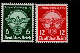 Deutsches Reich 689 - 690 Reichsberufswettkampf MNH Postfrisch ** Neuf - Ungebraucht