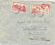 A.O.F. DAKAR SENEGAL TàD 8 OCT 47 GRIFFE PREMIER COURRIER DAKAR-PARIS « CONSTELLATION » AIR FRANCE =>SP 59.069 BPM 517 - Briefe U. Dokumente