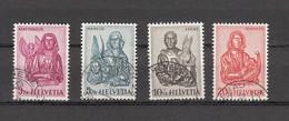 1961   N° 381 à 384  OBLITERES    CATALOGUE   ZUMSTEIN - Gebraucht