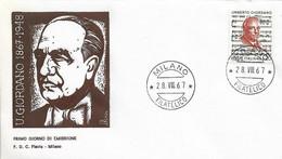 Fdc Flavia : U. GIORDANO (1967); No  Viaggiata ;AF_Milano - F.D.C.