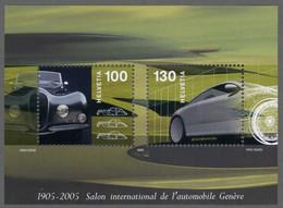 SUISSE SWITZERLAND 2005 Yt: CH BF38 Centenary Motor Show Geneva MNH** V.Fac. 2.30 CHF 2,15 € Automobil - Ungebraucht
